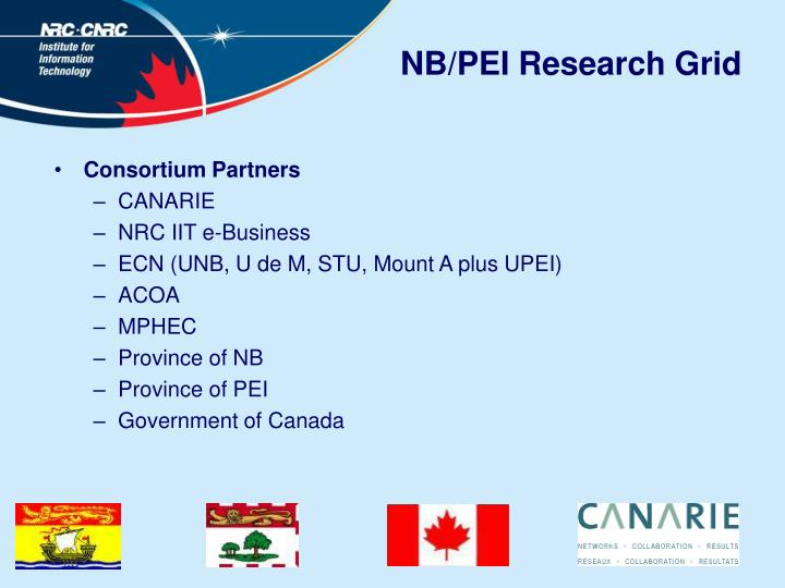 NB/PEI Research Grid