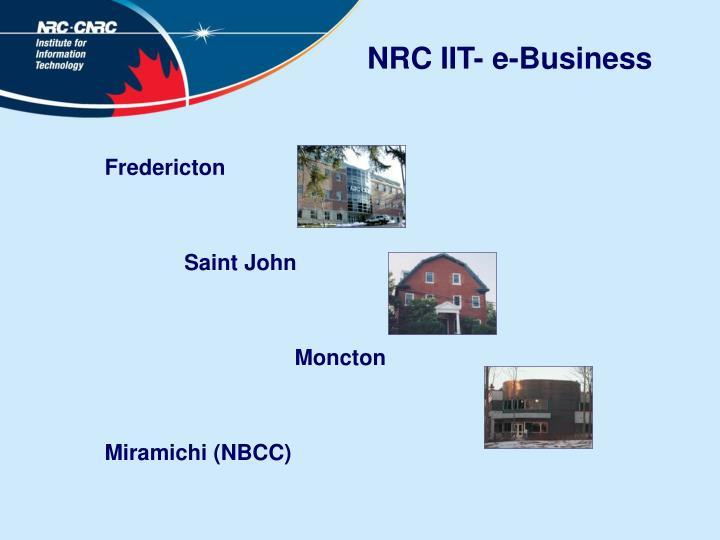 NRC IIT- e-Business