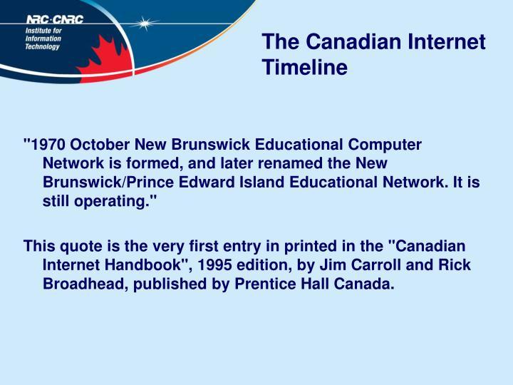 The Canadian Internet Timeline