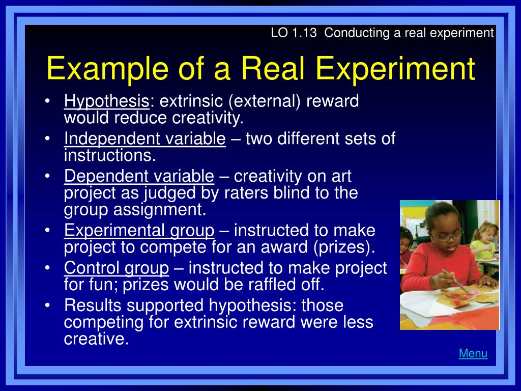 LO 1.13  Conducting a real experiment