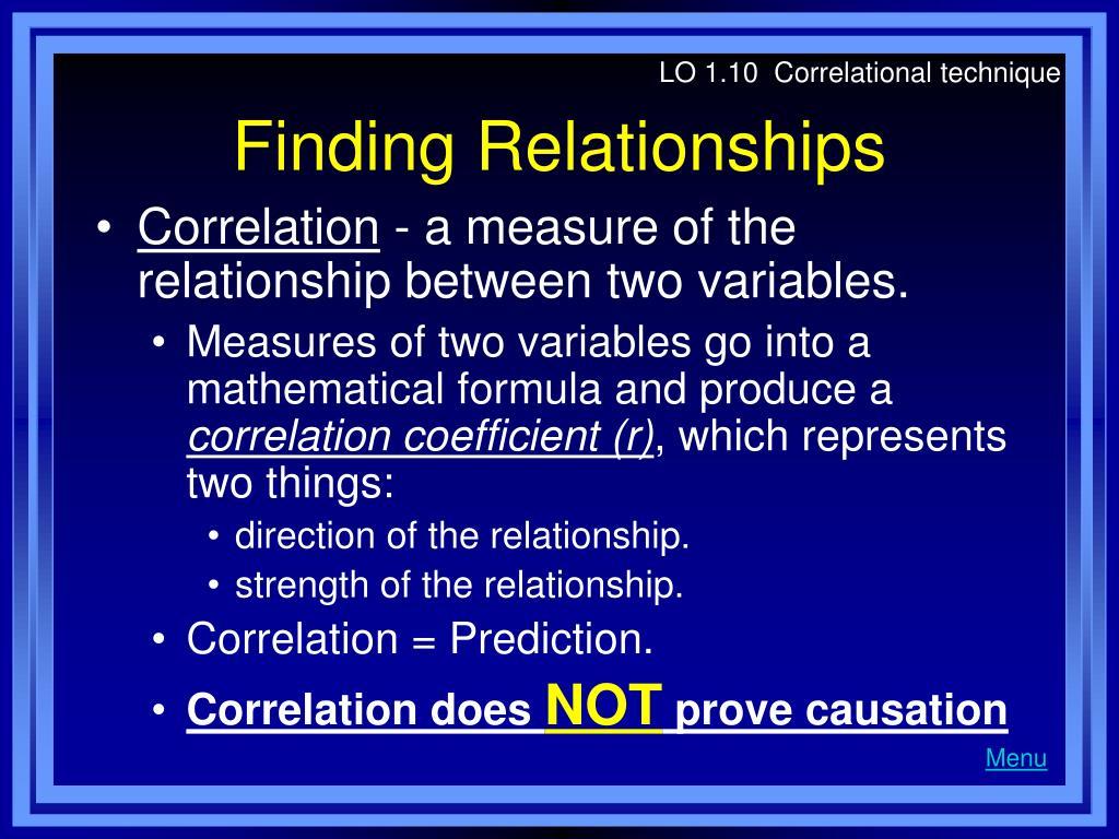 LO 1.10  Correlational technique