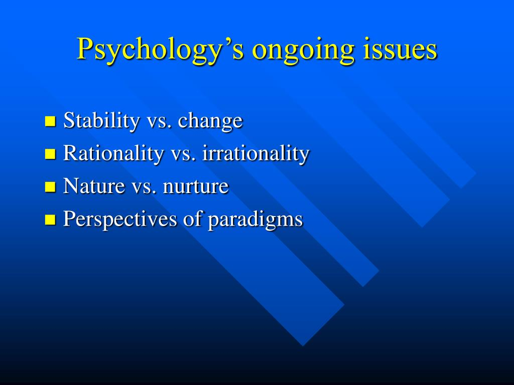 Psychology's ongoing issues