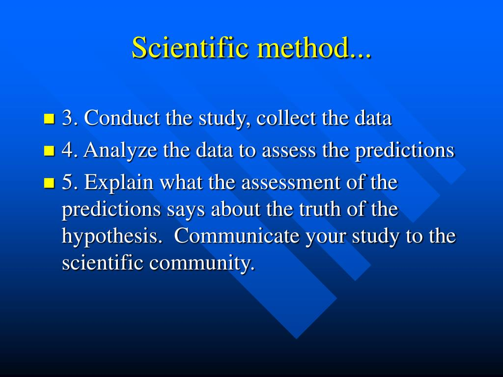 Scientific method...