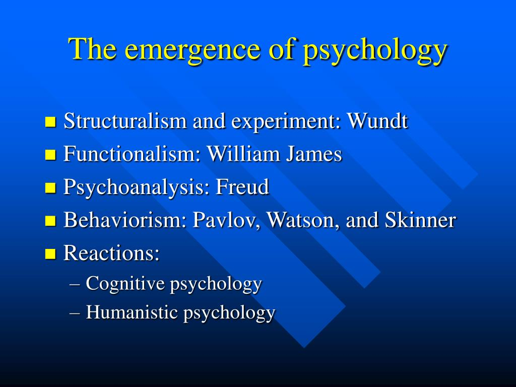 The emergence of psychology