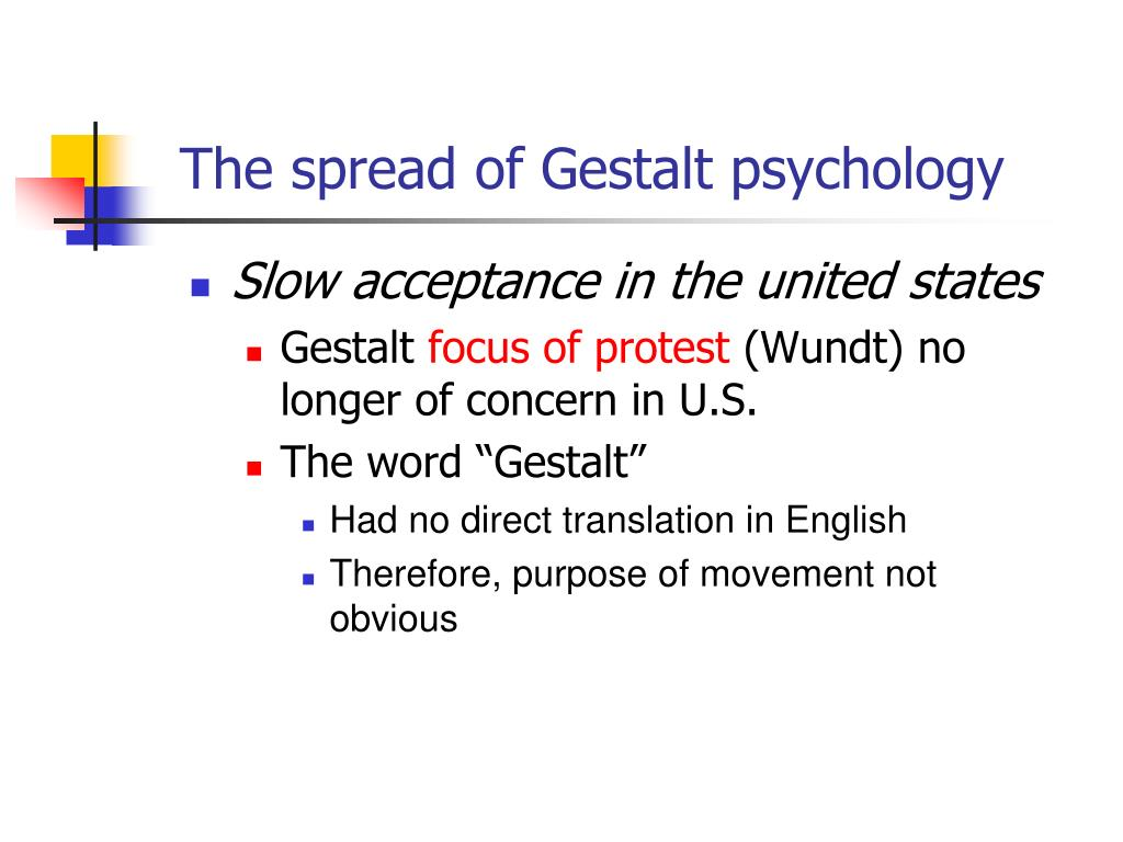 gestalt psychology vs behaviorism Gestalt psychology while behaviorism was becoming the dominant psychological theory in the us, along with freud's theory of psychoanalysis, the gestalt perspective gained influence in europe around the same time.
