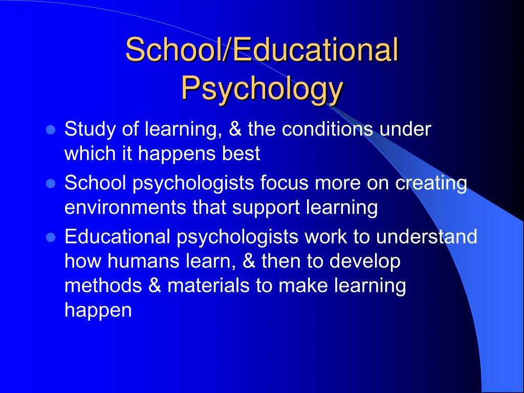 School/Educational Psychology
