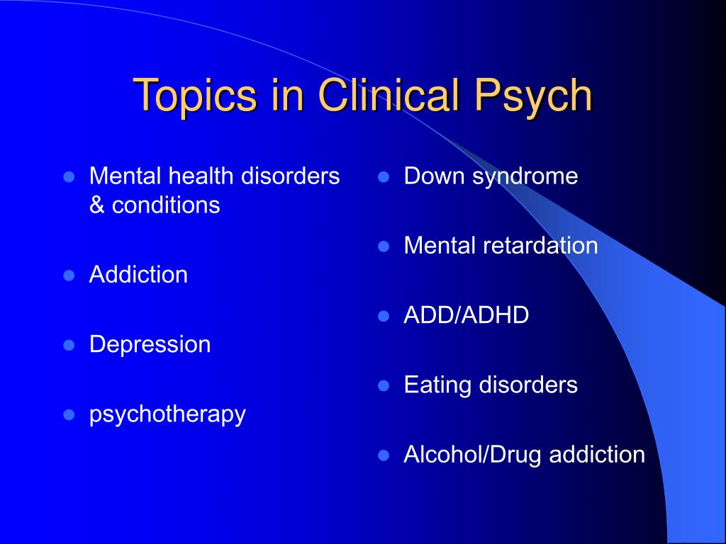 Mental health disorders & conditions