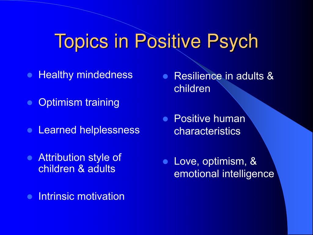 Healthy mindedness