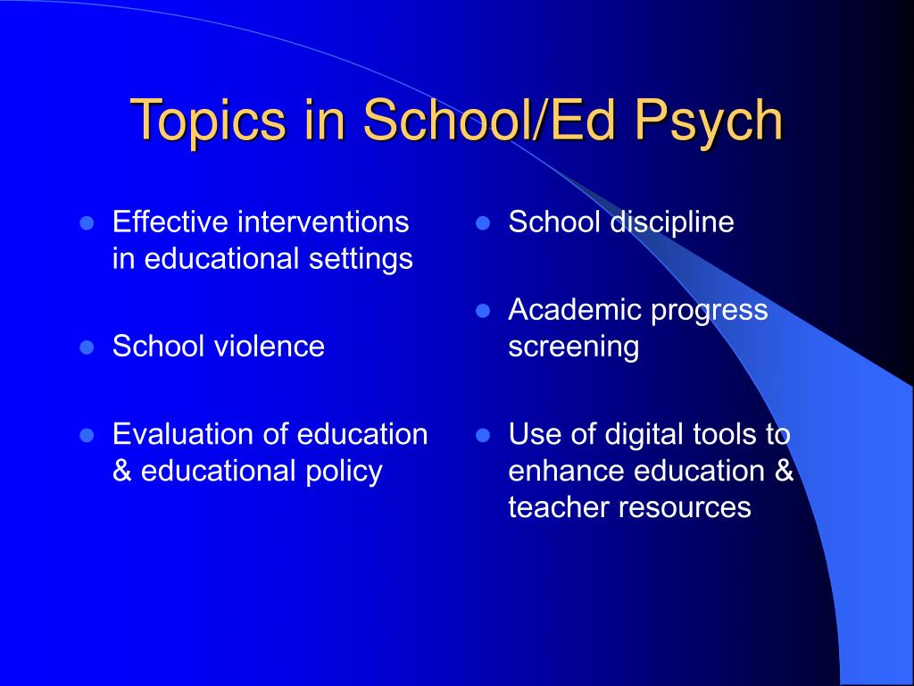 Effective interventions in educational settings