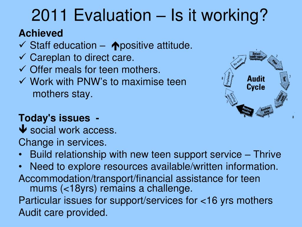 2011 Evaluation – Is it working?