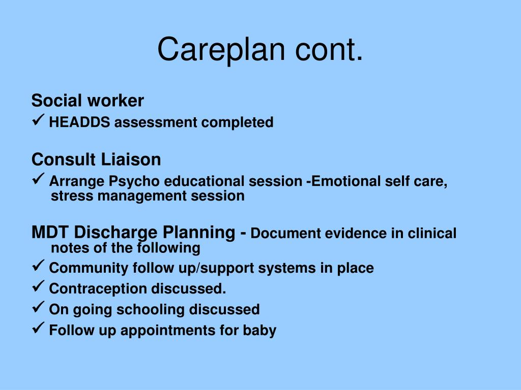 Careplan cont.