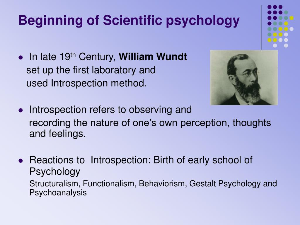 Beginning of Scientific psychology