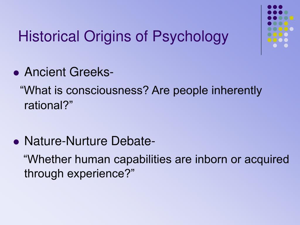 Historical Origins of Psychology