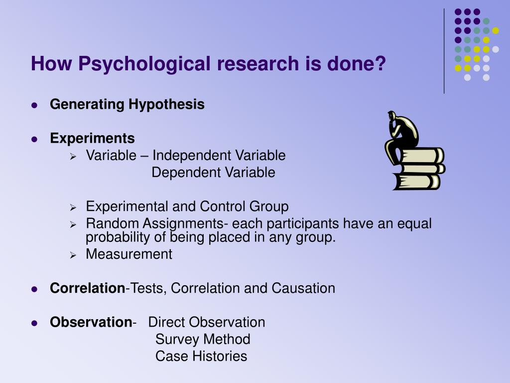 How Psychological research is done?