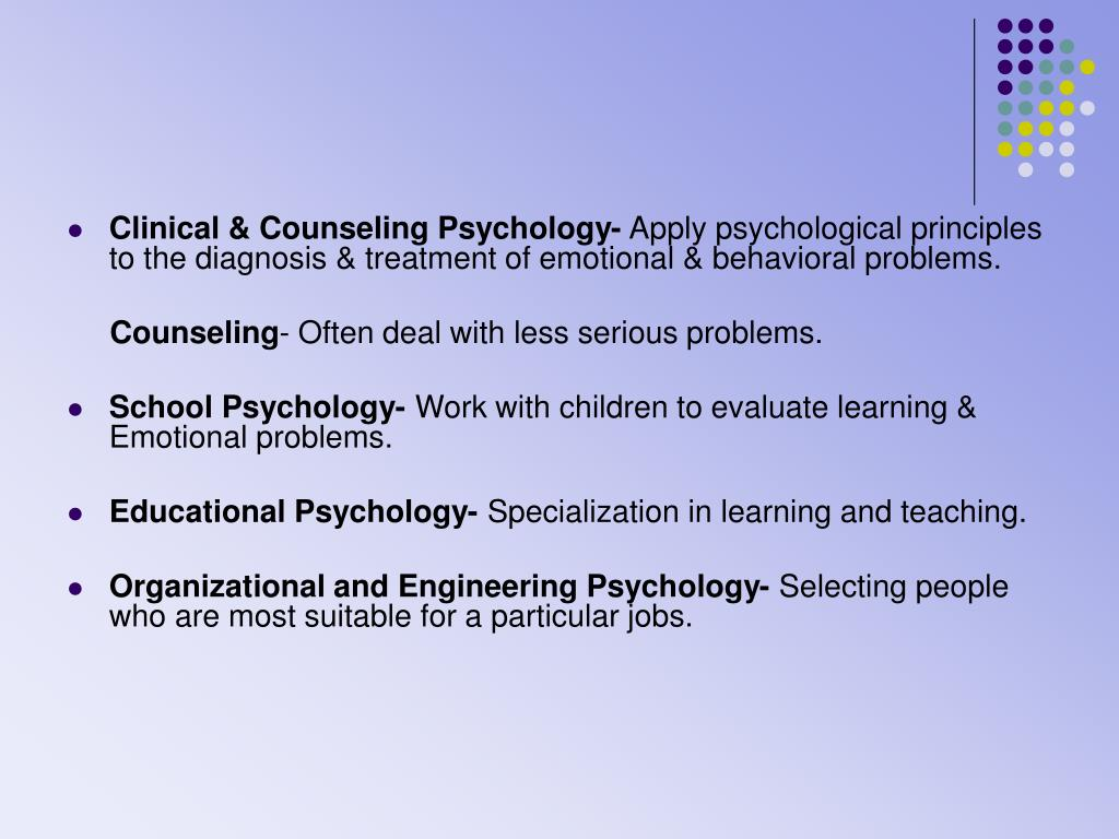 Clinical & Counseling Psychology-