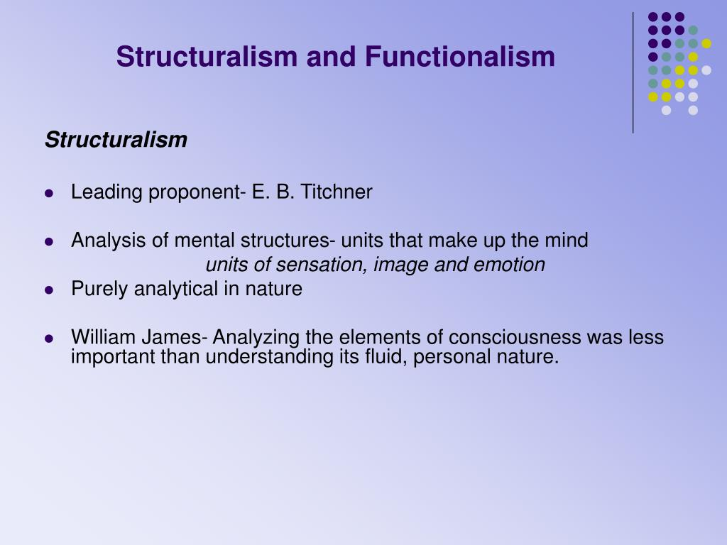 Structuralism and Functionalism