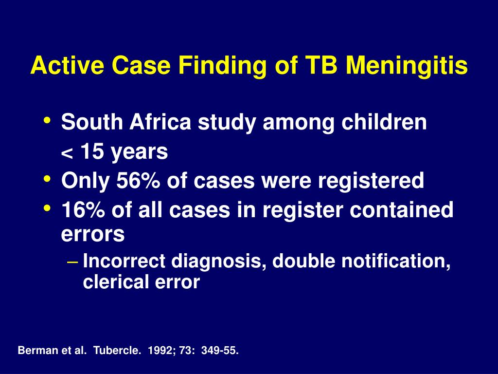 Active Case Finding of TB Meningitis
