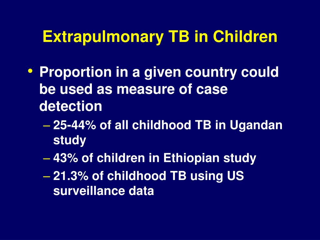 Extrapulmonary TB in Children