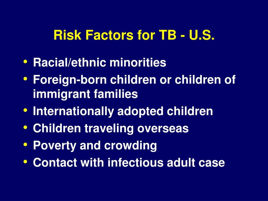 Risk Factors for TB - U.S.