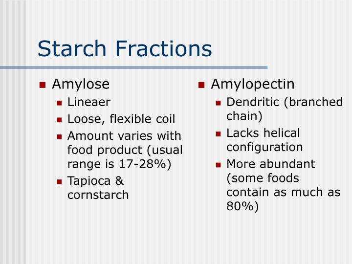 Starch fractions