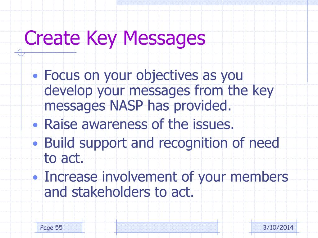 Create Key Messages