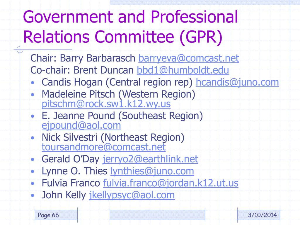 Government and Professional Relations Committee (GPR)