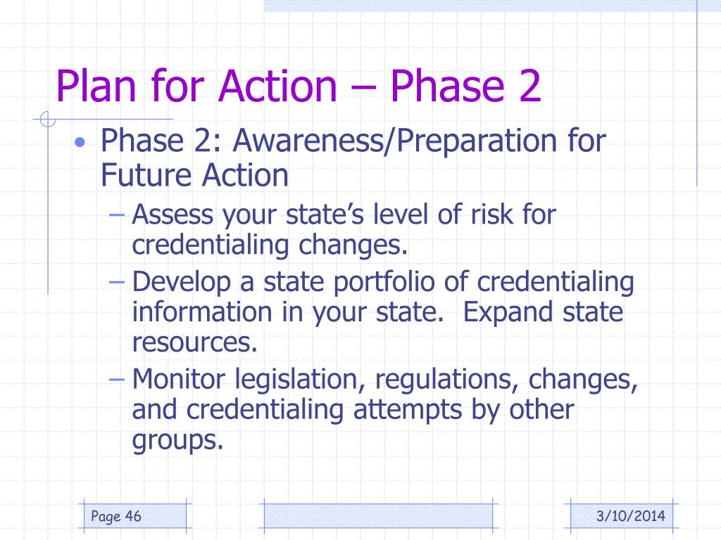 Plan for Action – Phase 2