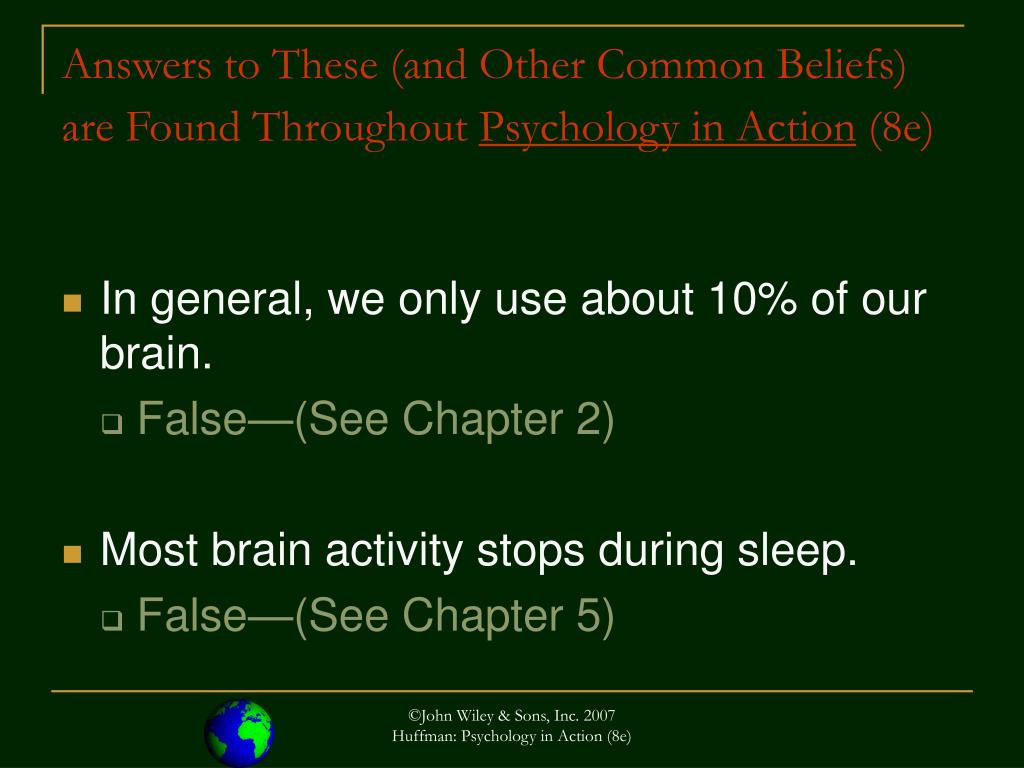 Answers to These (and Other Common Beliefs) are Found Throughout