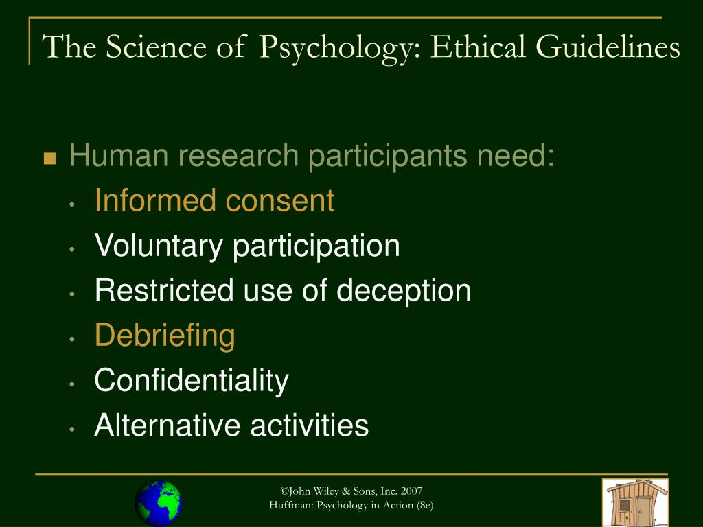 The Science of Psychology: Ethical Guidelines