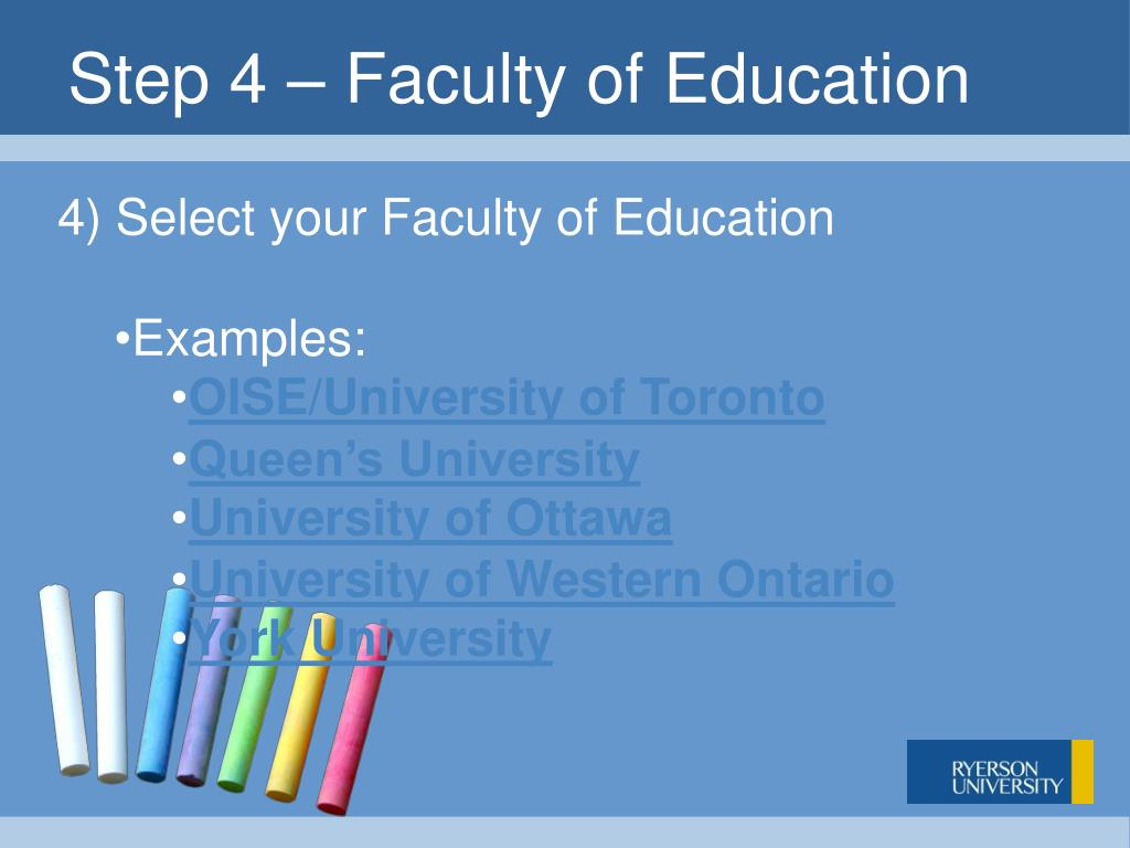 Step 4 – Faculty of Education