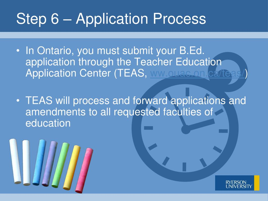 Step 6 – Application Process