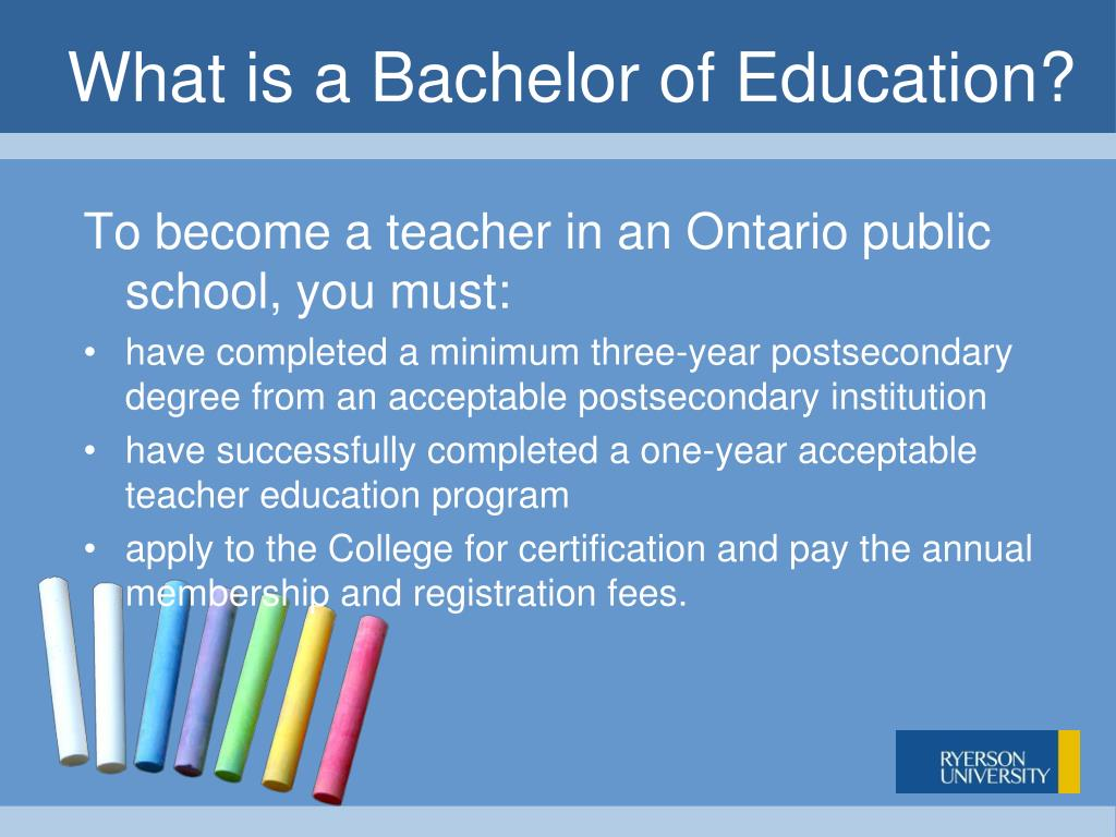 What is a Bachelor of Education?