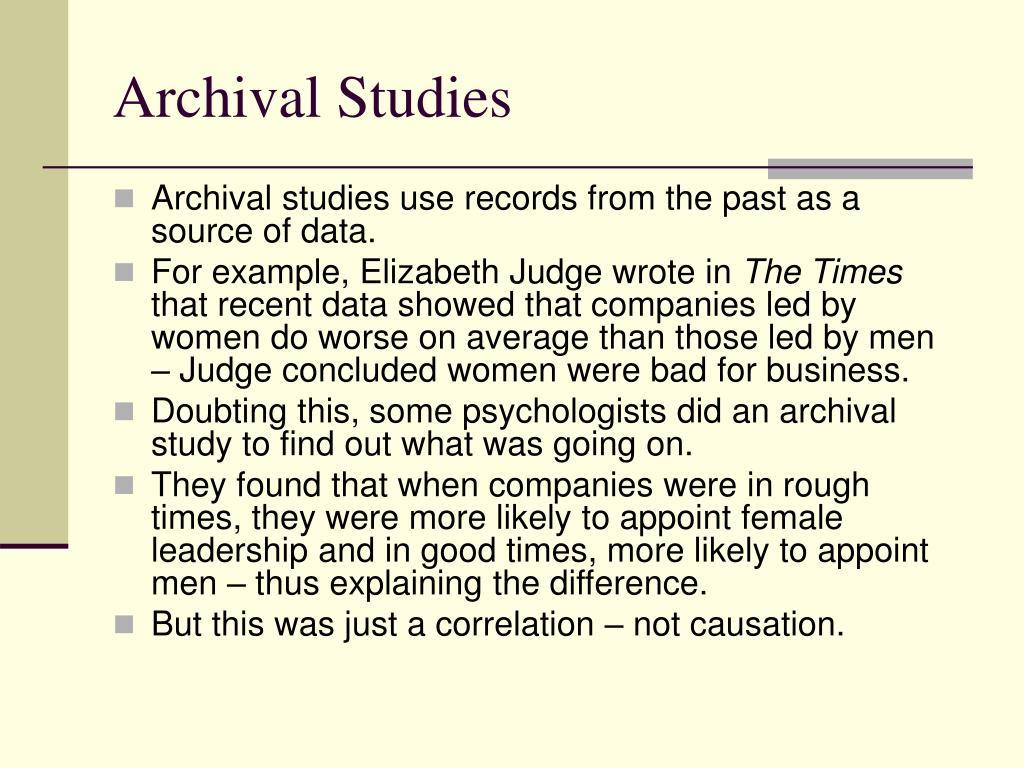 Archival Studies