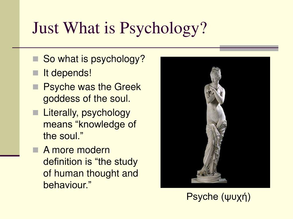 Just What is Psychology?