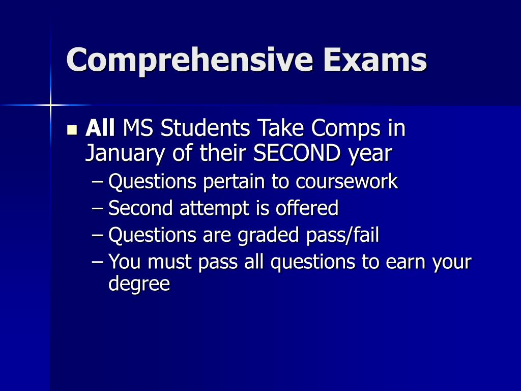 Comprehensive Exams