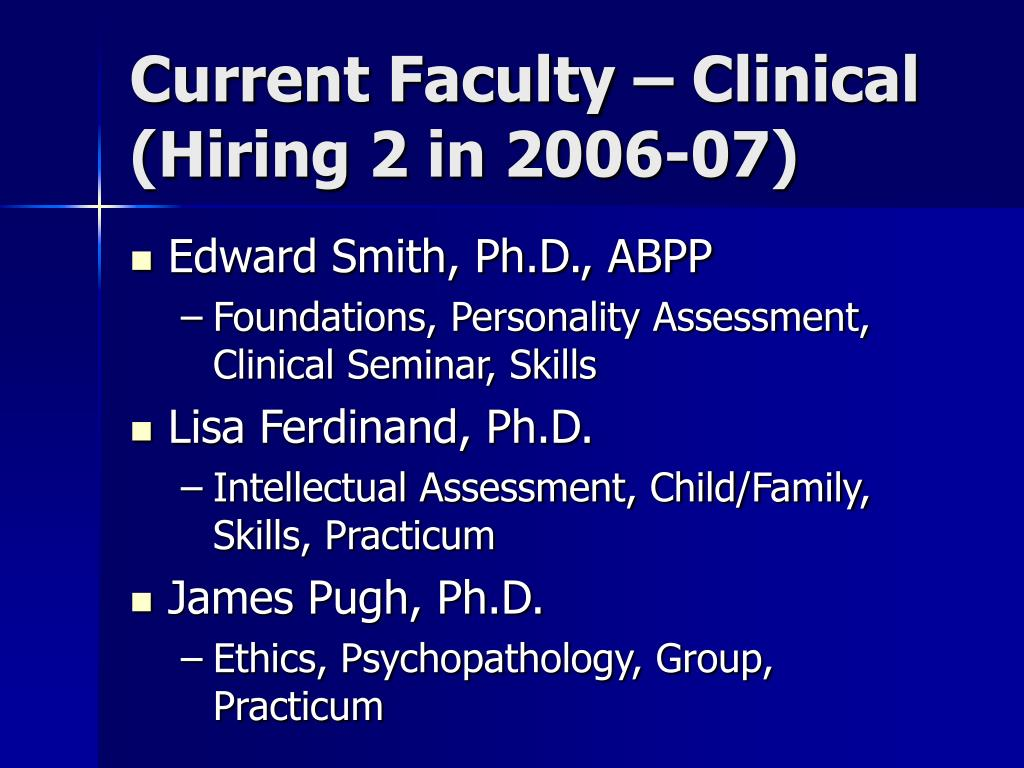 Current Faculty – Clinical
