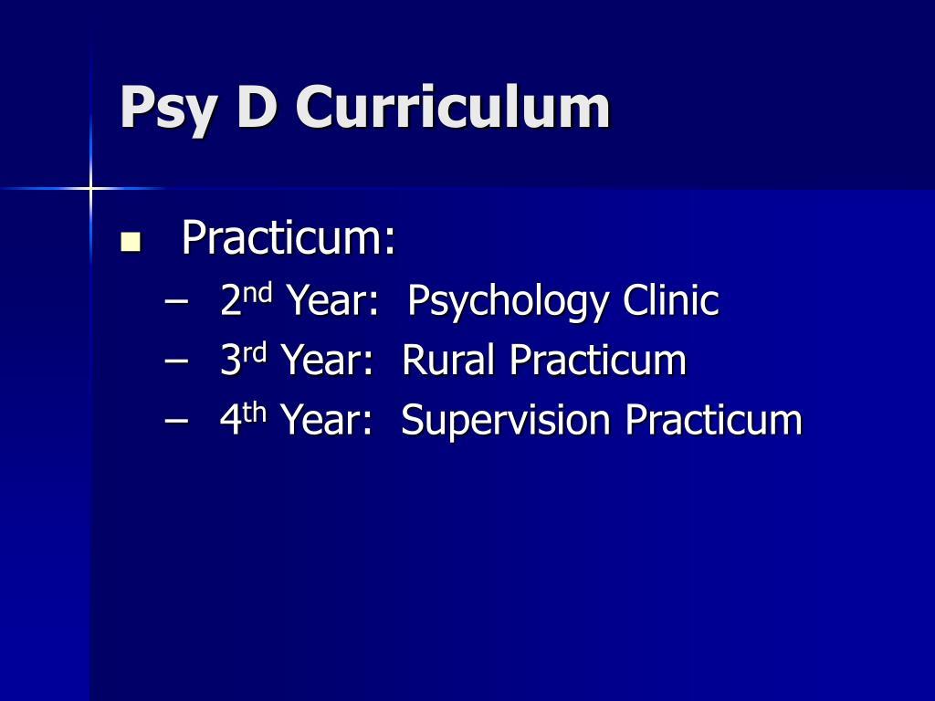 Psy D Curriculum
