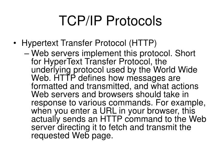 Tcp ip protocols