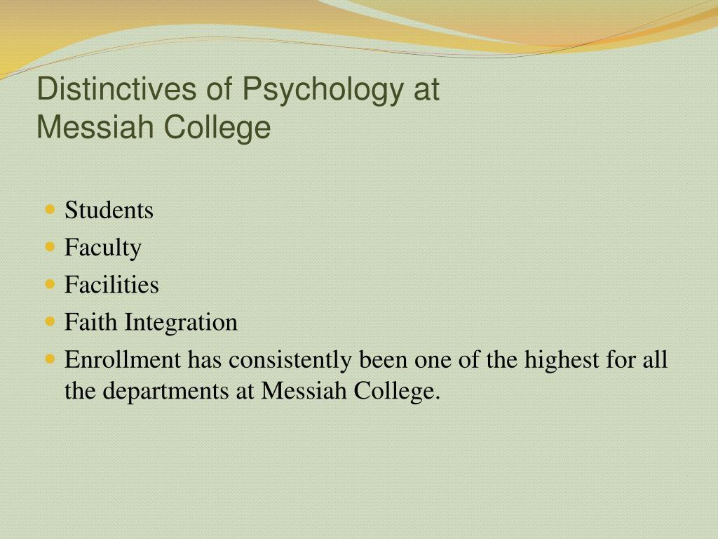 Distinctives of Psychology at
