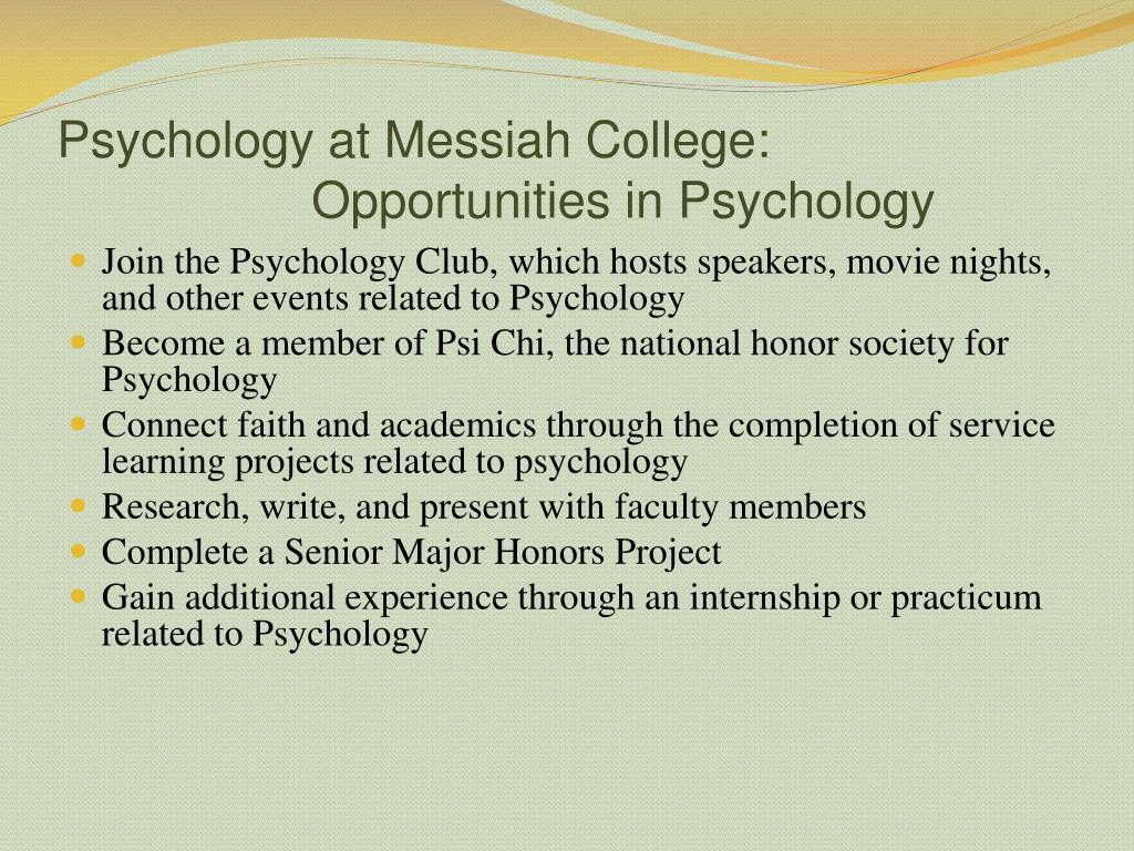 Psychology at Messiah College: