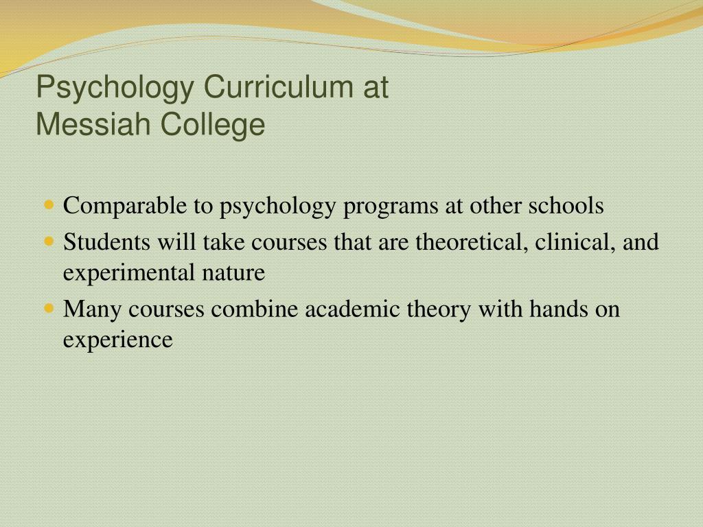 Psychology Curriculum at