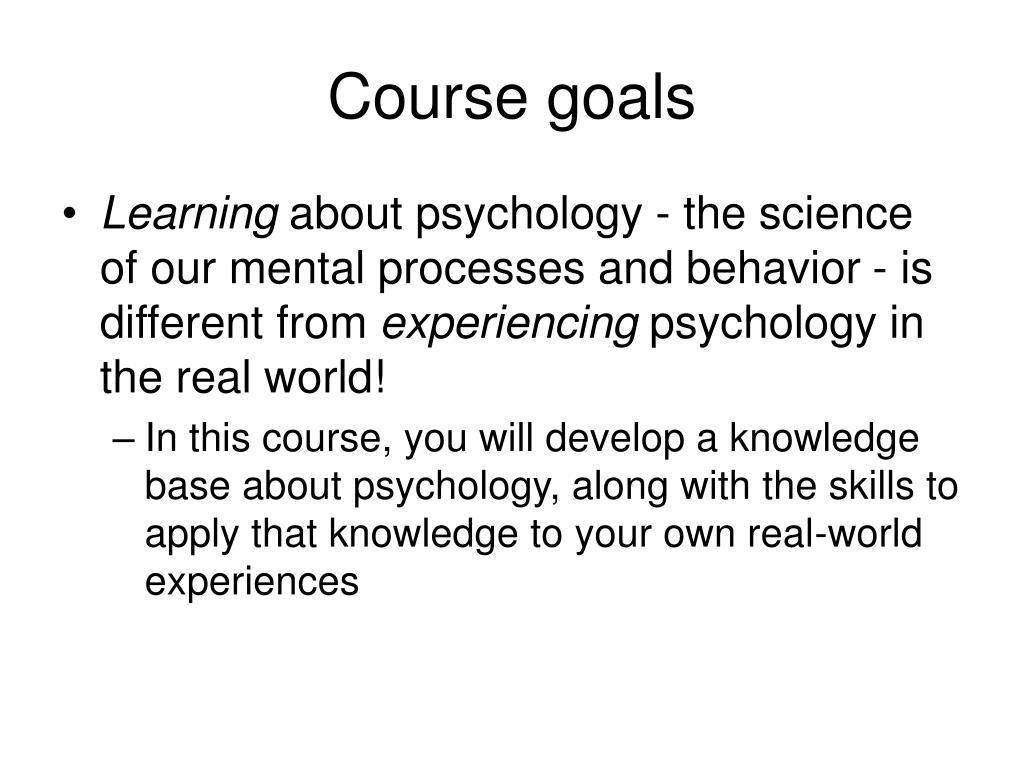 Course goals