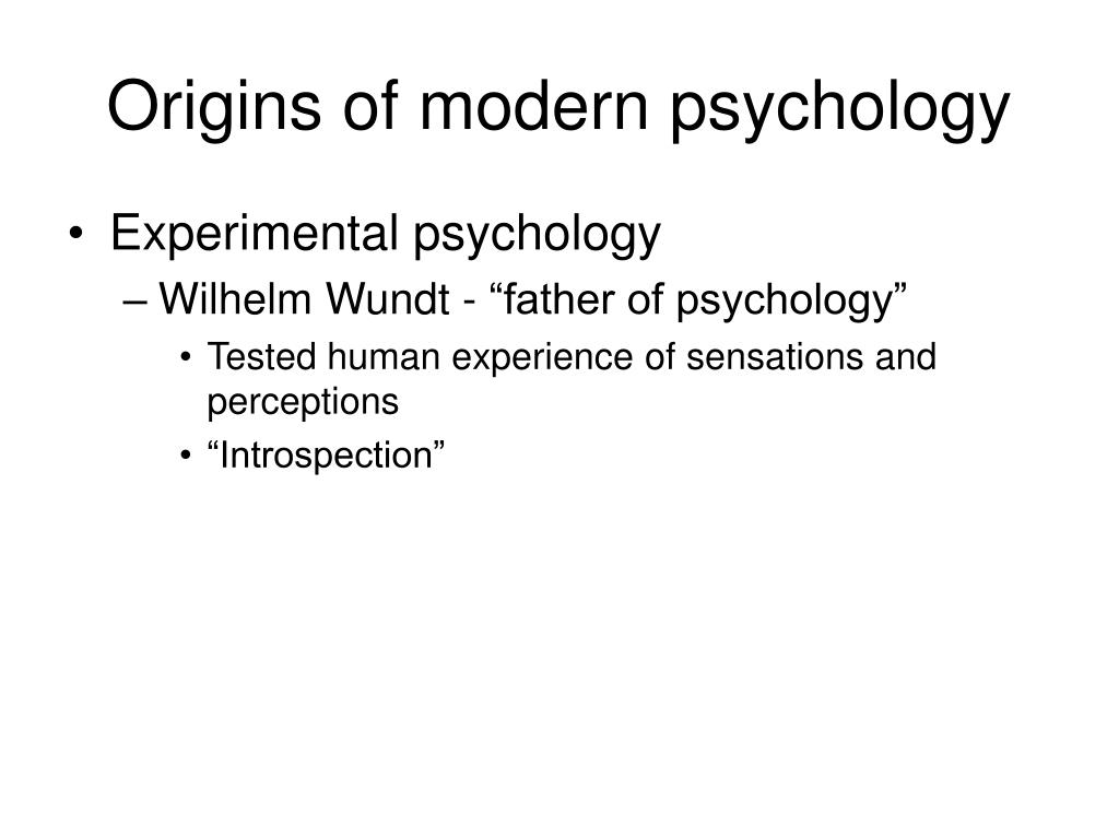 Origins of modern psychology