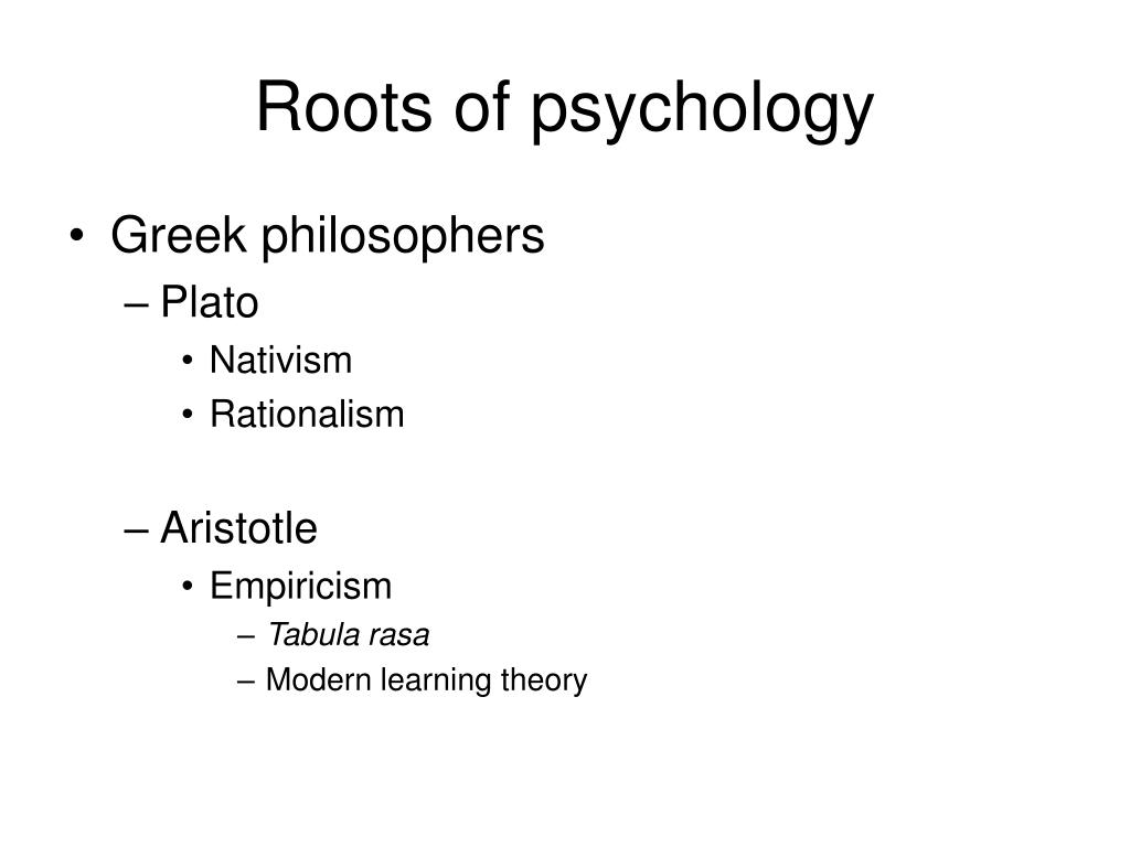 Roots of psychology
