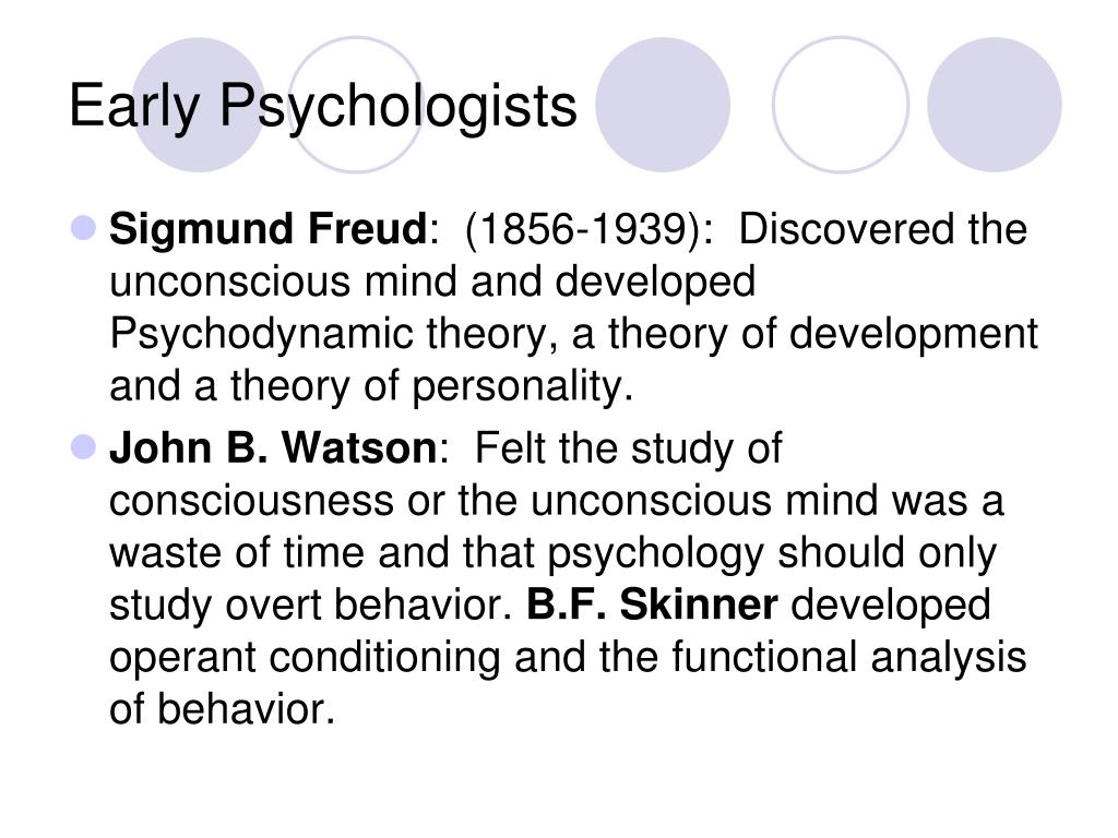 Early Psychologists