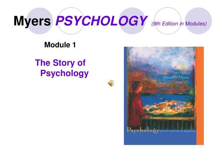 Myers psychology 9th edition in modules