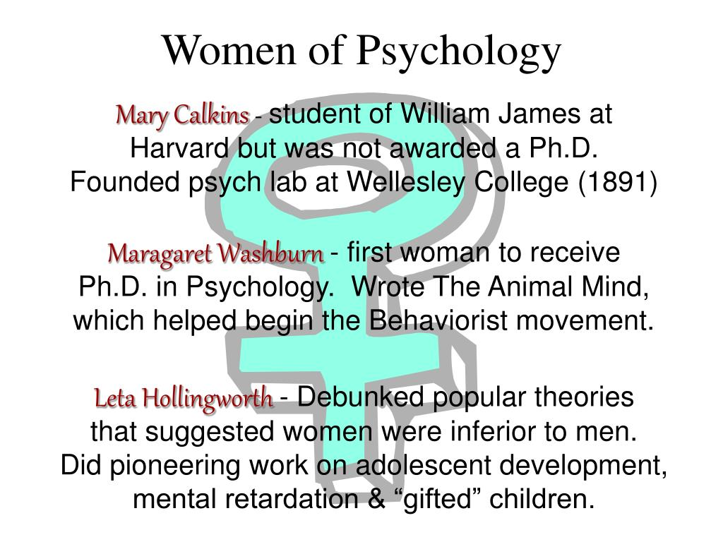 Women of Psychology