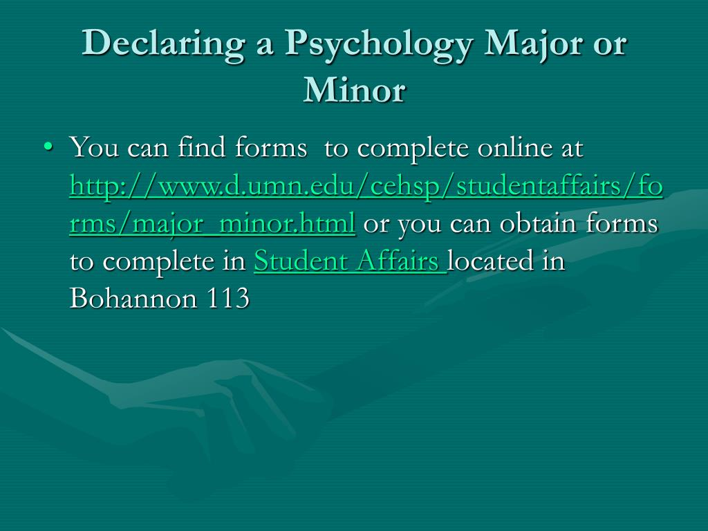 Declaring a Psychology Major or Minor