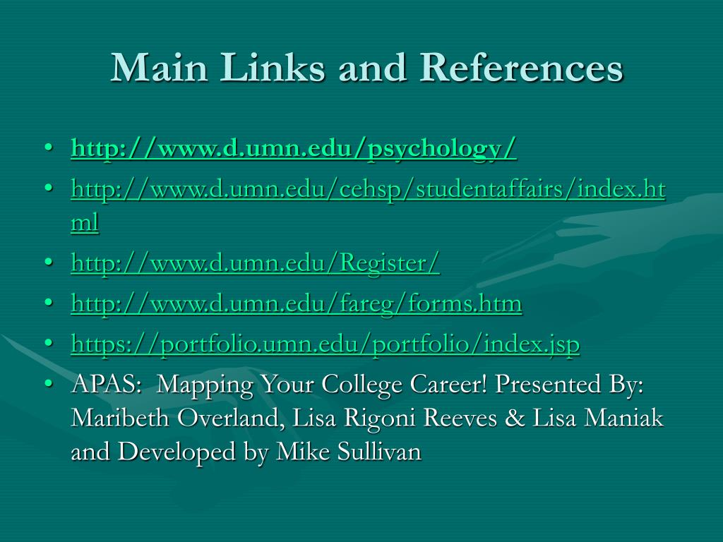 Main Links and References