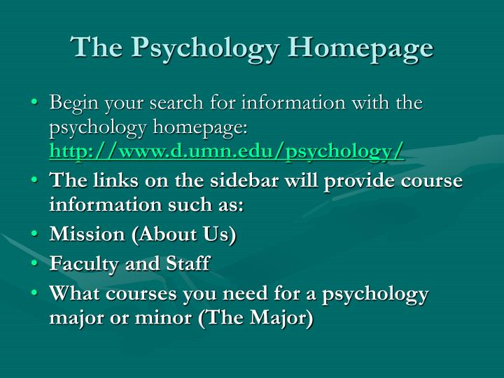 The psychology homepage